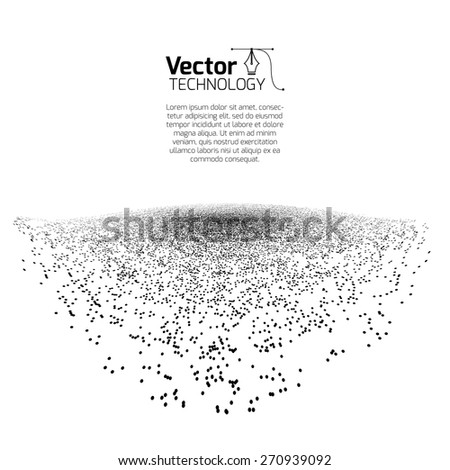 explosion, the scheme from the point - stock vector