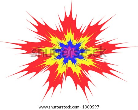 Explosion type vector abstract background - stock vector
