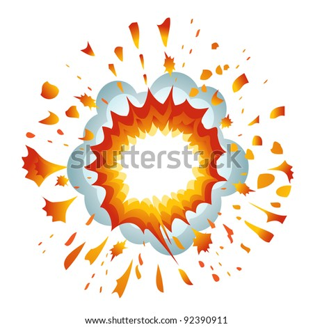 Explosion. Vector-Illustration - stock vector