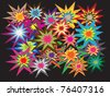 Explosions colorful vectors - stock