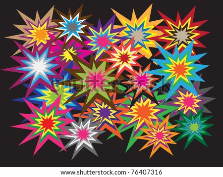 Explosions colorful vectors - stock vector