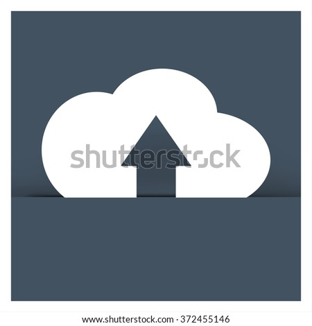 Export-Import file document symbol on grey background