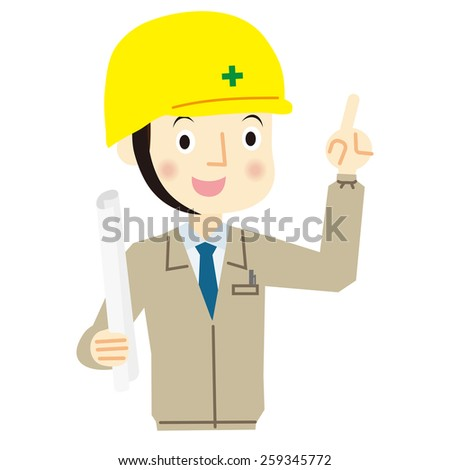 Expression of man worker - stock vector
