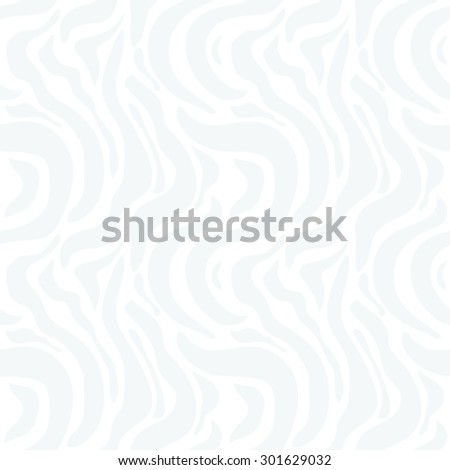 Expressive seamless zebra pattern. Safari collection. Abstract vector background. Light grey on white. - stock vector
