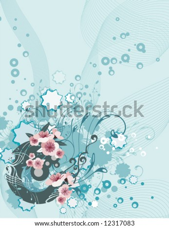 Exquisite floral ornamental design, vector illustration series.