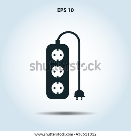 extension cord icon - stock vector