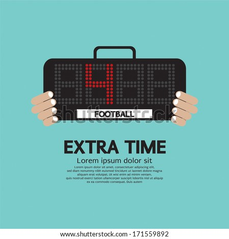 Extra Time Vector Illustration - stock vector