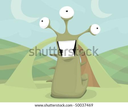 Extraterrestrial - stock vector