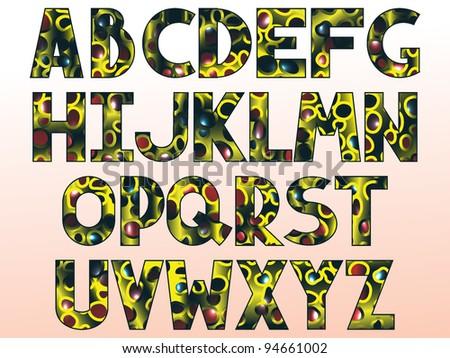 extraterrestrial alphabet - stock vector