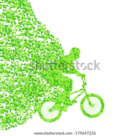 Extreme bicycle riders sport vector background illustration concept - stock vector