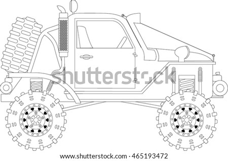 how to draw a off road car