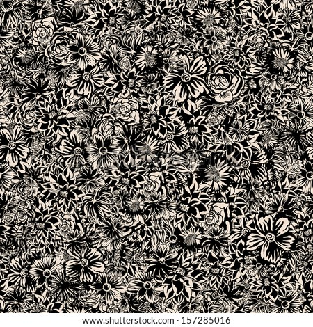 Extreme Seamless Floral Pattern. - stock vector