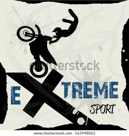 extreme sport over pattern background vector illustration - stock vector