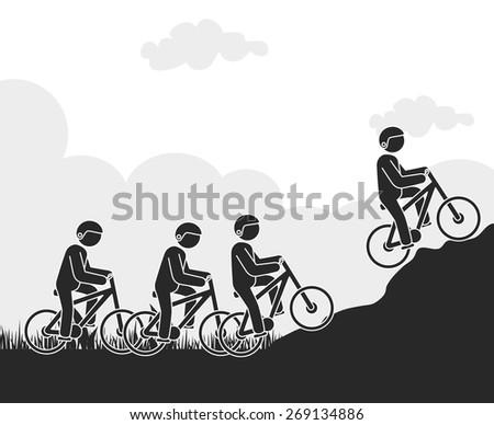 Extreme sports design over white background, vector illustration.