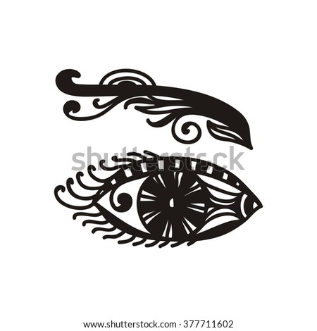 Eye abstract pattern design element vector illustration - stock vector