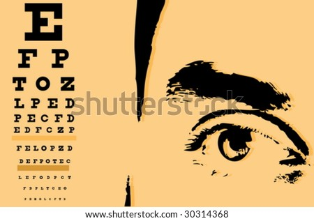 Eye and ophthalmology chart