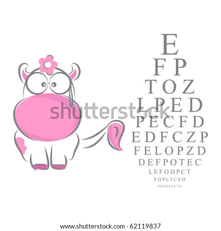 Eye and ophthalmology chart - stock vector
