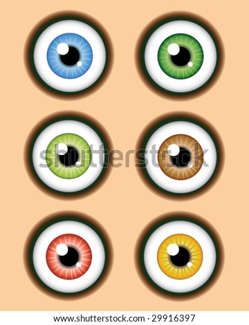 Eye Balls - Vector Illustration - stock vector
