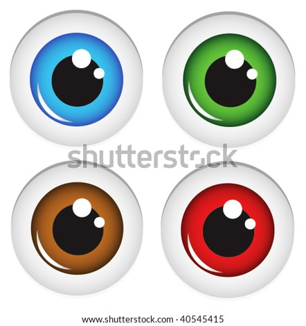 Eye balls vector. In my gallery also available XXL jpeg image made from this vector - stock vector