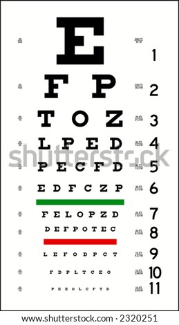 Eye Chart (in vector format, can be scaled to any size) - stock vector