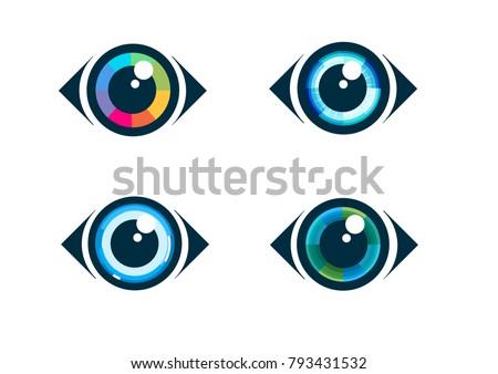 Eye Icon Eye Symbol Vector Flat Stock Vector 793431532 Shutterstock