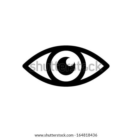 Eye icon - vector - stock vector