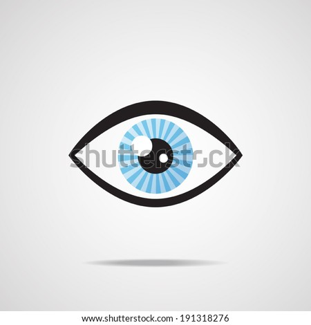 Eye icon - Vector EPS 10 - stock vector