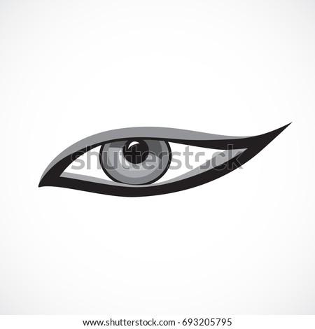 Eye Icon Cat Eye Makeup On Stock Vector 693205795 - Shutterstock