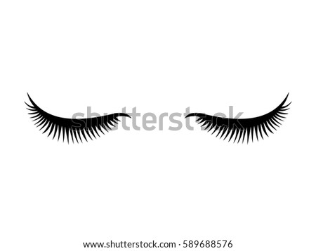 eyelashes icon vector stock vector 465889403 - shutterstock
