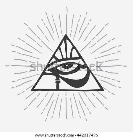 Horus Stock Photos, Royalty-Free Images & Vectors ... Eye Of Horus In Triangle