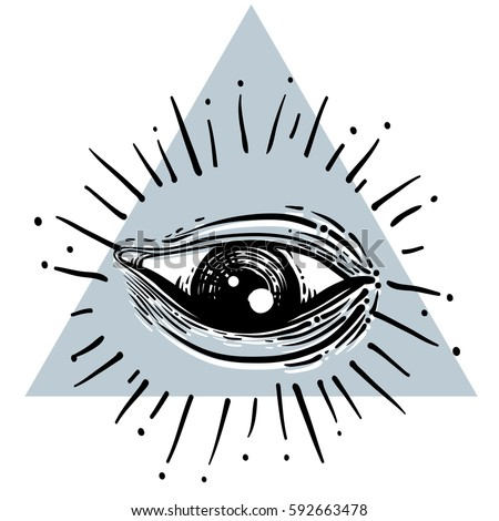 eye providence masonic symbol all seeing stock vector 592663478 rh shutterstock com Jesus Vector Masonic Eye Logo Vector