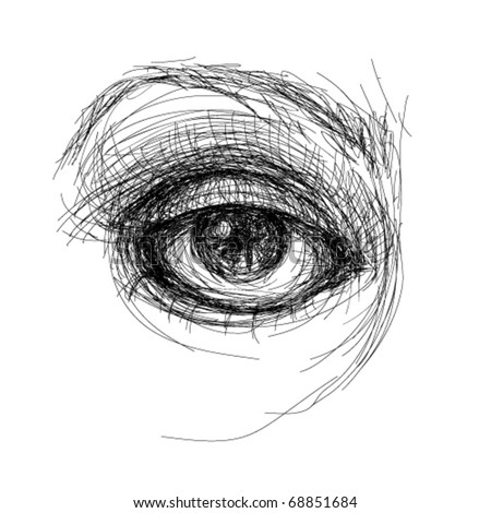 Eye realistic sketch (not auto-traced)