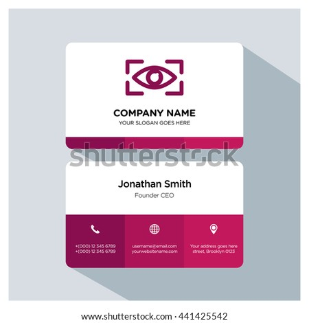 Eye scan icon. Business card template, Logo branding, Business card vector EPS, Image jpg - stock vector