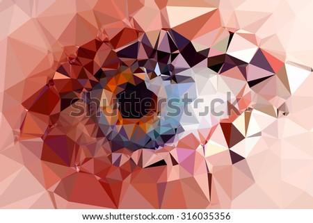 eye triangles design easy editable - stock vector