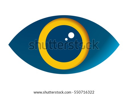 Eye vector icon isolated on white background - stylized image.