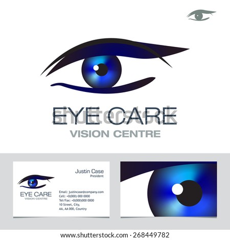Eye vision sign business card vector stock photo photo vector eye vision sign business card vector template for optometrist ophthalmologist glasses contact colourmoves