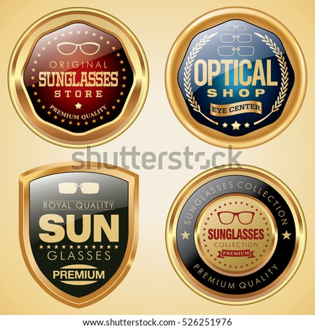 Eyeglasses badges