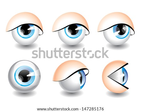 eyes icons - stock vector