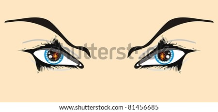 Eyes with a spark - stock vector