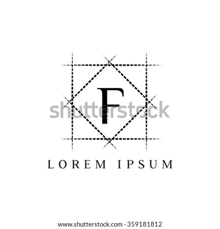 F letter vector logo template (sign, symbol, emblem, ornament)
