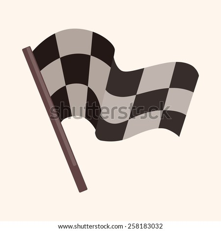 f1 racing theme elements - stock vector
