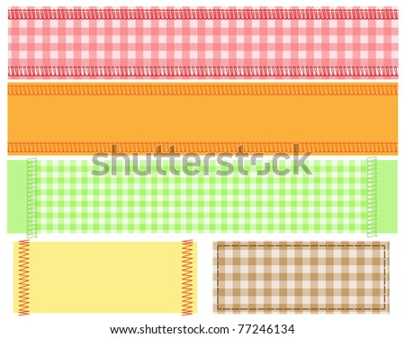 fabric banner - stock vector