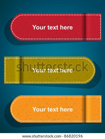 fabric label vector - stock vector