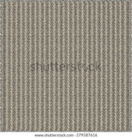 Fabric texture background. Vertical stripes pattern. Monochrome. Vector design. - stock vector