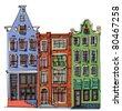 facades - stock vector
