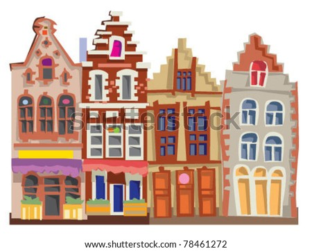 facades - stock vector