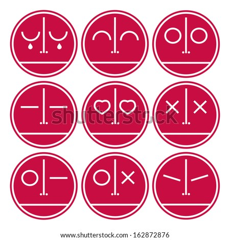 Face Expression Icons - stock vector