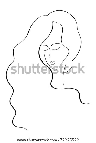 face of a beautiful  girl - stock vector