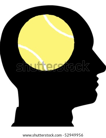 Face Tennis Ball - stock vector
