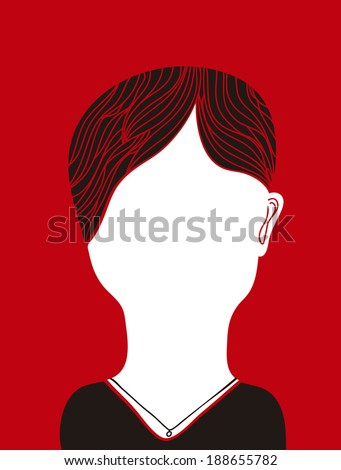 Faceless woman - stock vector